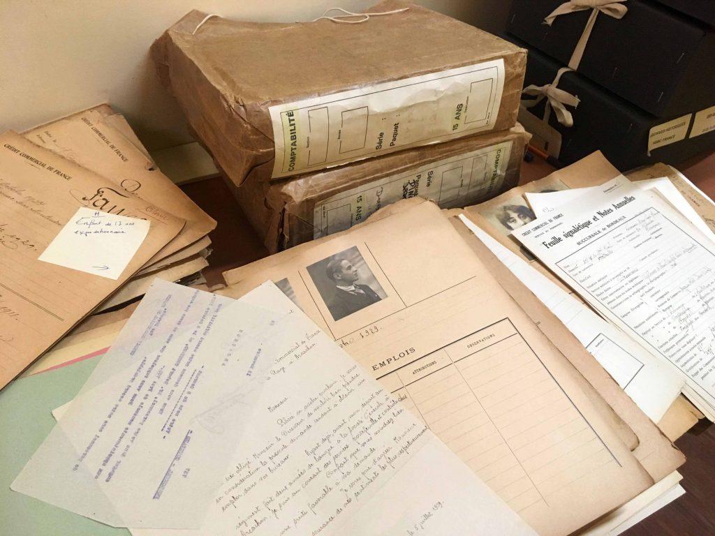 Détail dossier du personnel. Source : HSBC France, Archives historiques