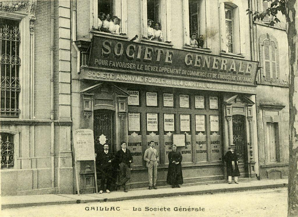 Agence de Gaillac. Source : Société Générale, Archives historiques