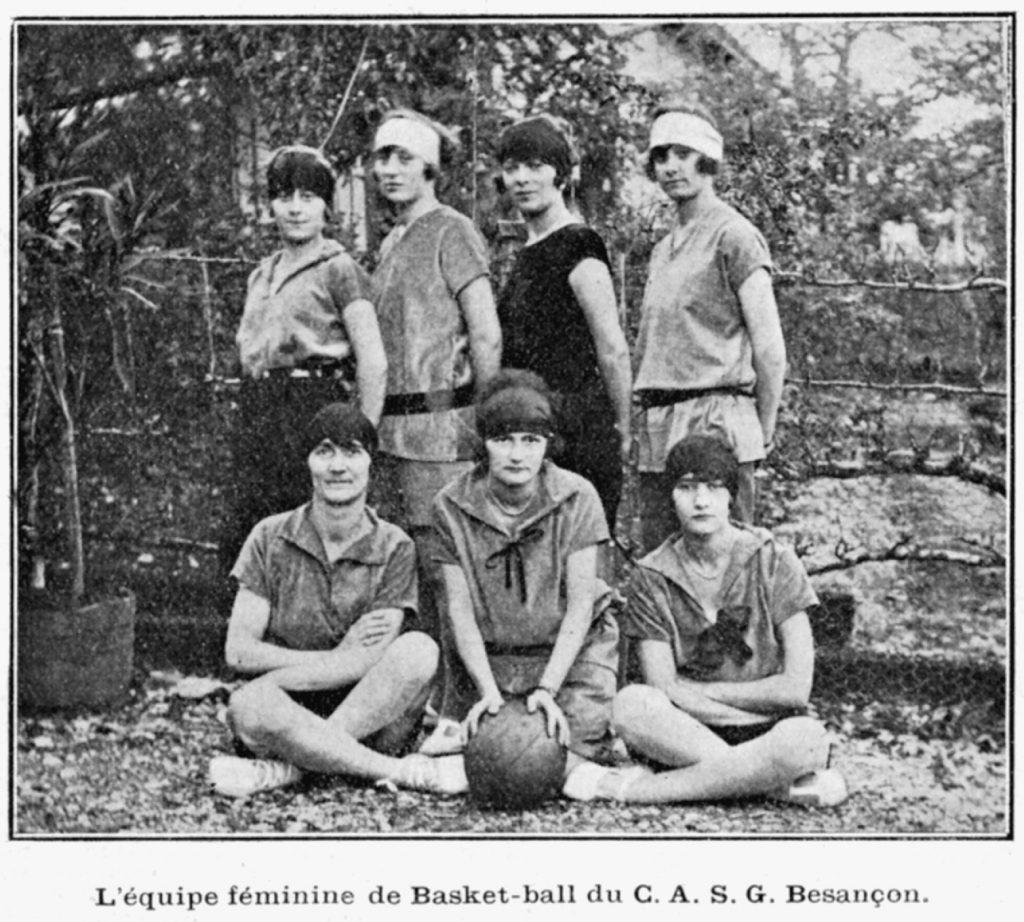 L'équipe féminine de basket-ball du CASG Besançon en 1929. Société Générale, Archives historiques.