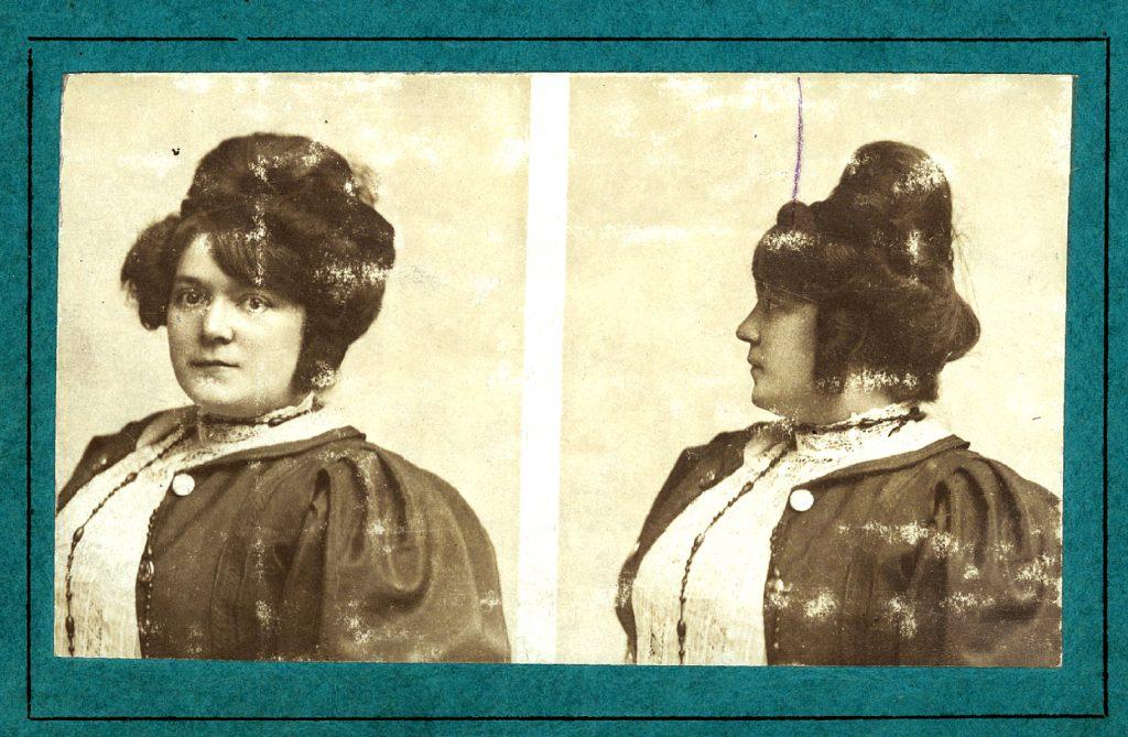 Pauline Mondange, employée de la Société générale, 1910. Société Générale, Archives historiques.