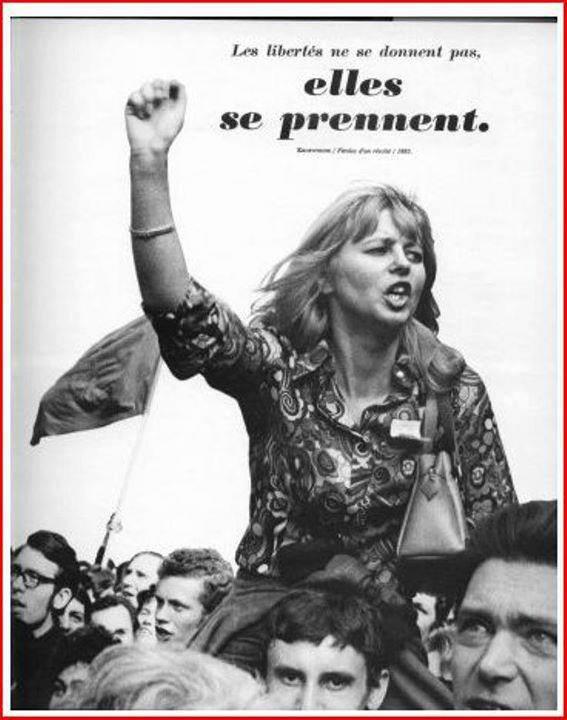 Affiche de grève ''Les libertés ne se donnent pas, elles se prennent''