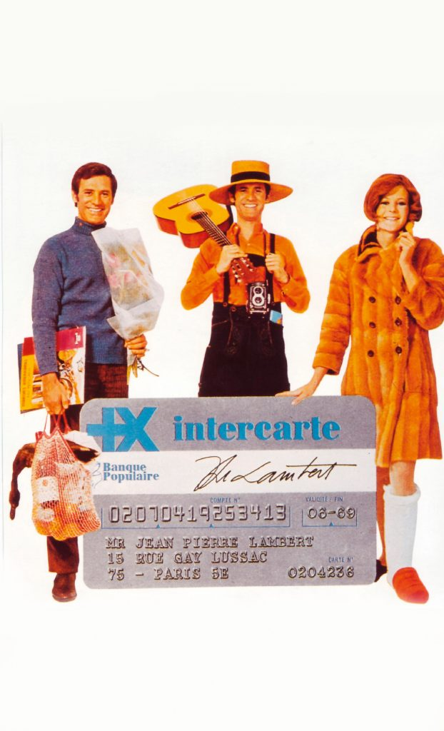 Annonce presse pour Intercarte, vers 1968. Fonds d'archives Banque Populaire.
