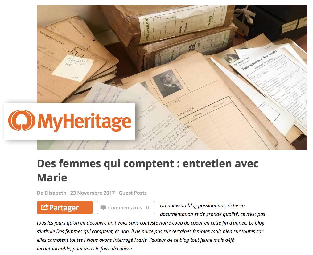 Ma première interview sur MyHeritage