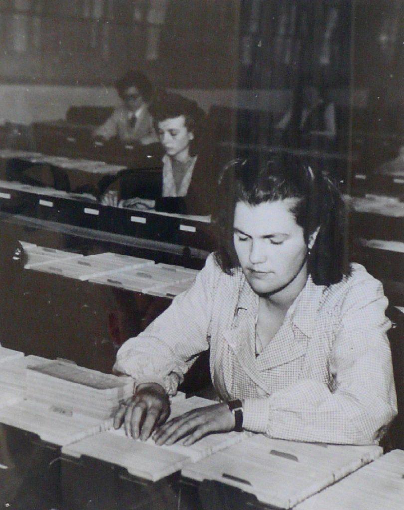 Le fichier client, vers 1950. BNP Paribas, Archives historiques.