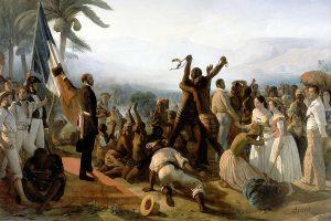 L'abolition de l'esclavage dans les colonies françaises, François-Auguste Biard, huile sur toile, 1849. CC.