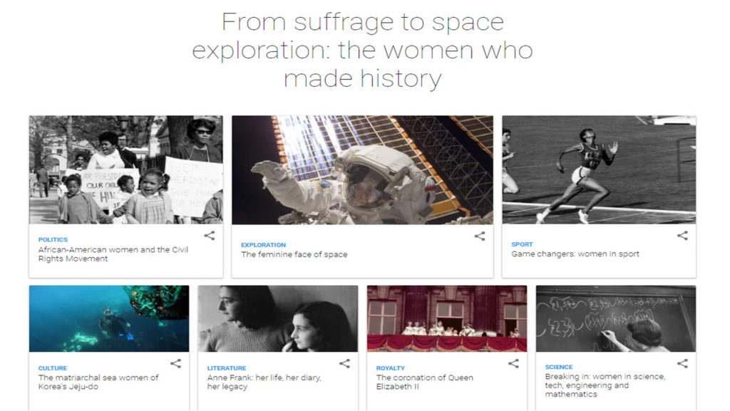 Capture d'écran du site Google Art et Culture