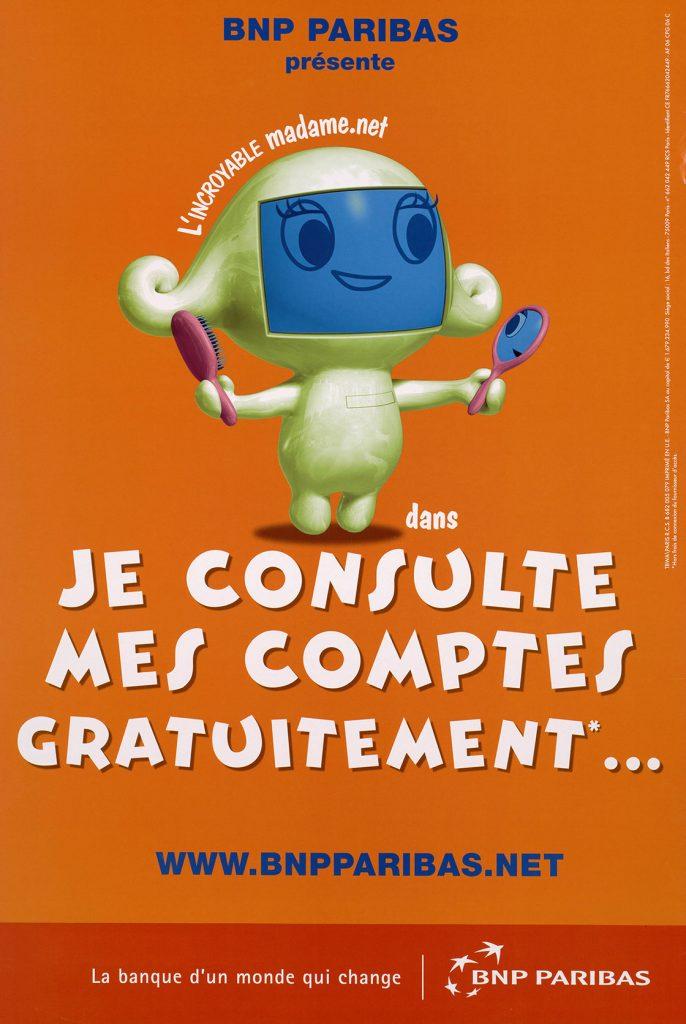 Campagne de publicité, 2003. BNP Paribas, archives historiques.