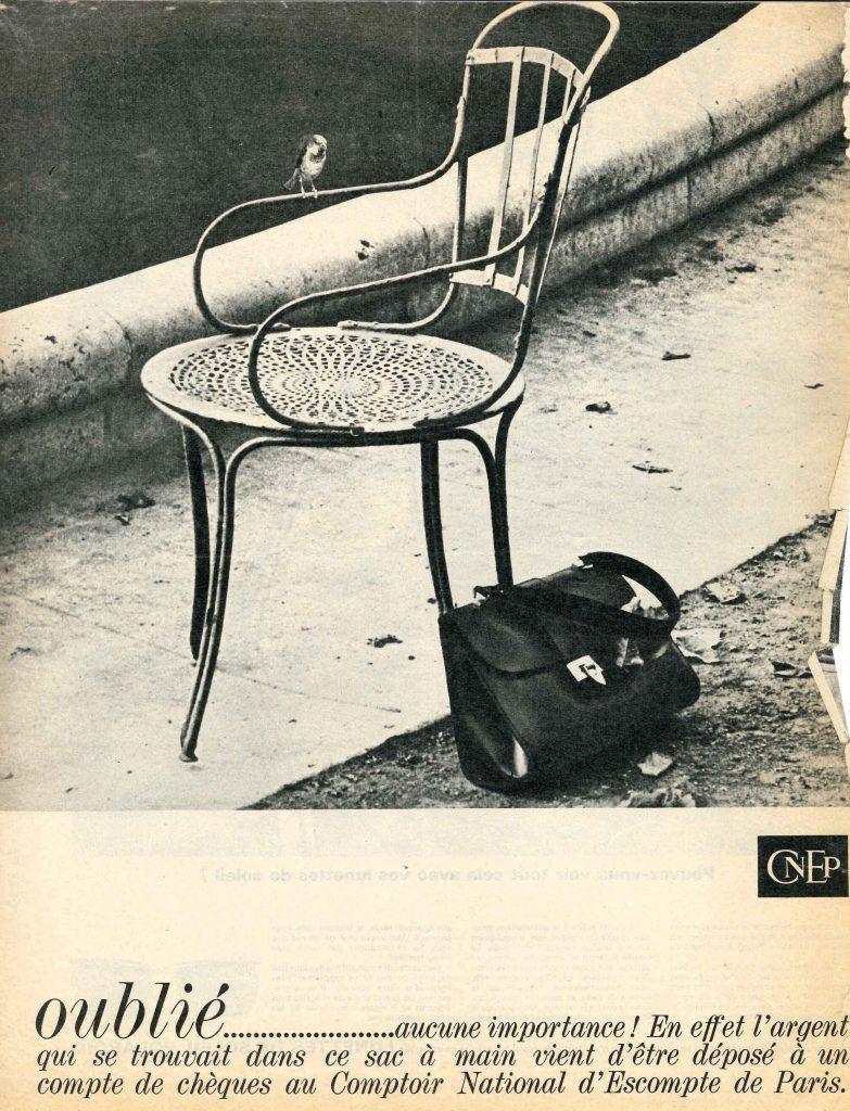 Campagne de publicité dans la presse magazine, CNEP, 1964. BNP Paribas, archives historiques.