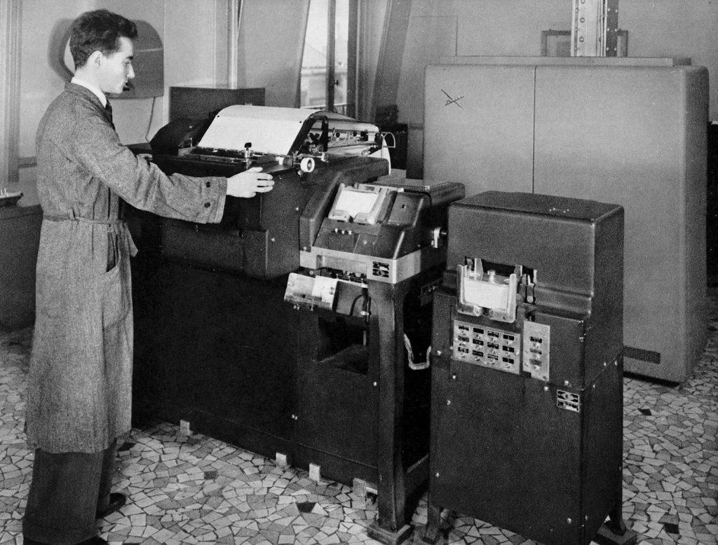 Tabulatrice et calculateur électronique, années 1950. HSBC France, Archives historiques.