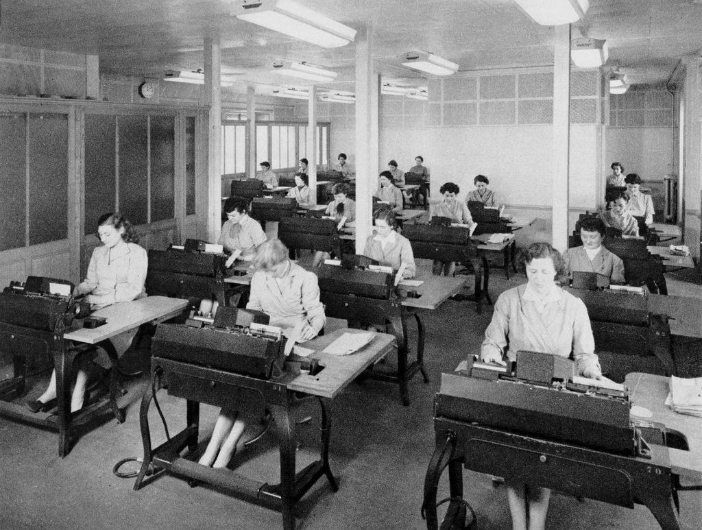 Atelier de mécanographie, 1955. HSBC France, Archives historiques.