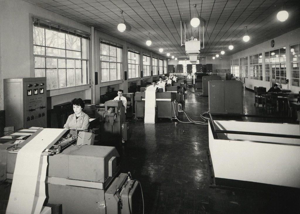 Un centre administratif régional, vers 1960. HSBC France, Archives historiques.