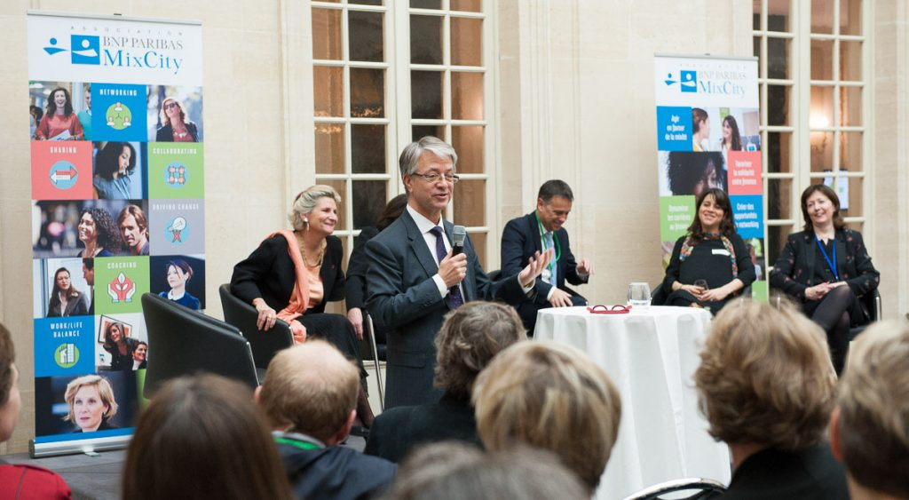 MixCity avec Jean-Laurent Bonnafé lors de la conférence du 8 mars 2017 sur le thème de l'ambition organisée par l'association